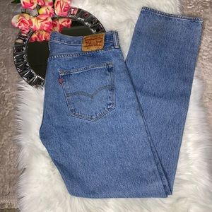 Men's Levi's 501 Straight Leg Jeans 36 34